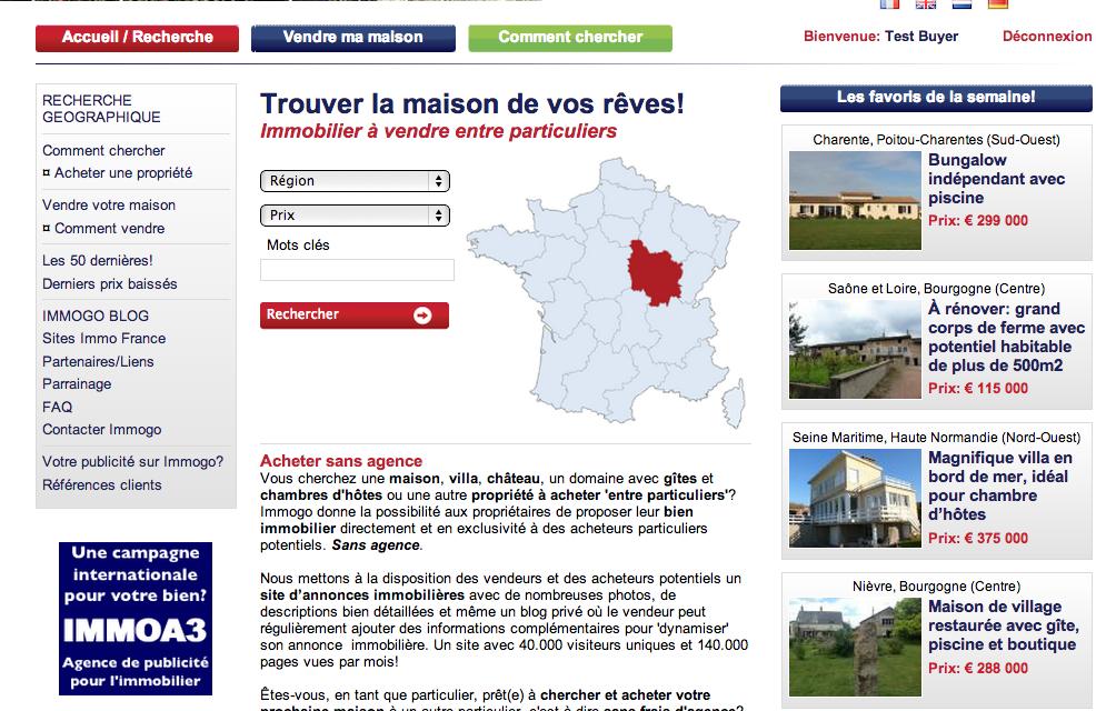 Homepage recherche