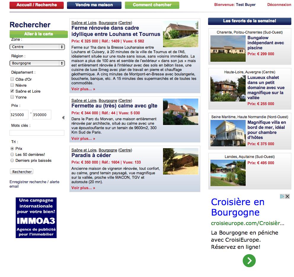 result recherche - three houses