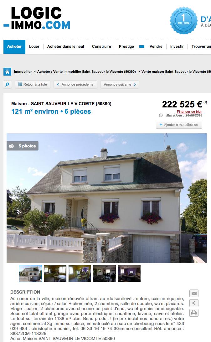 escroquerie vente maison