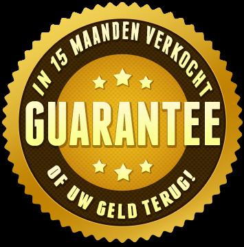 Verkoop in 15 maanden of geld terug garantie