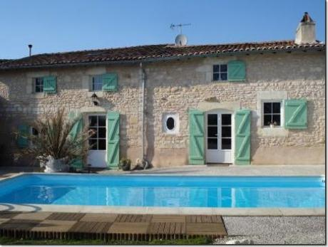 Beautiful charentaise stone house with pool and independent gite with gauranteed income.