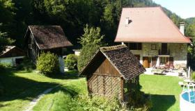 Attractive property comprising 2 older houses in the French Alps