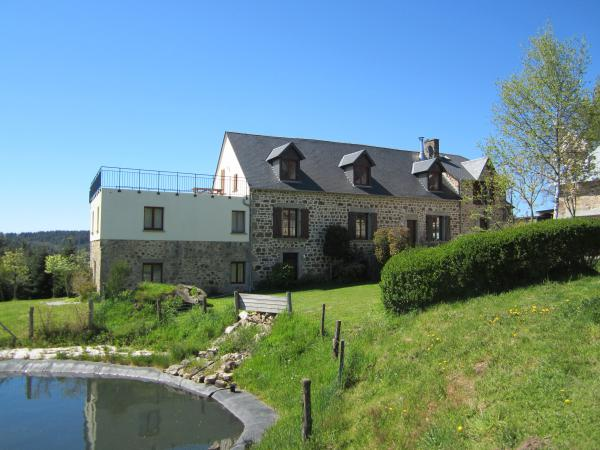 Completely renovated stone farmhouse with 2 studios, large barn and swimming pond