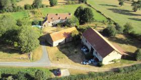 Renovated character farm with 3 comfortable gîtes, swimming pool and barns in 1.82 ha (4.5 acres).