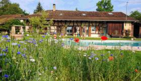 "Large ""ferme Bressane"" farmhouse with two apartments and swimming pool in beautiful natural surroundings"