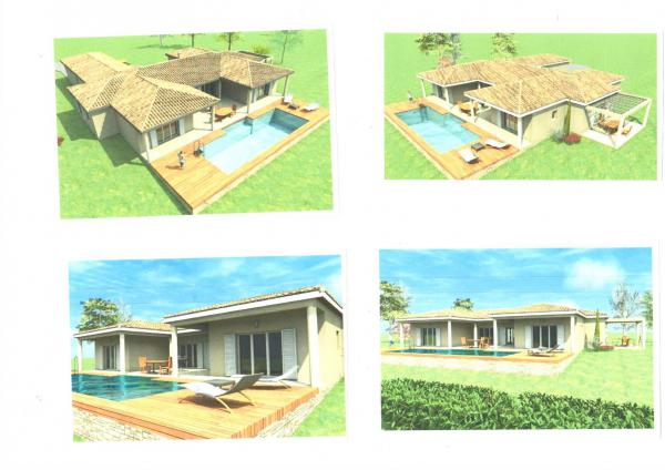 Plot with (still to be built) brand new villa with pool - create your own dream house