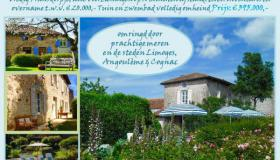 Excellent domain with pool, various gardens, gîtes and B&B rooms in original style
