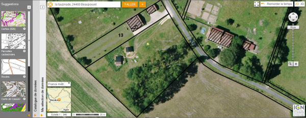 One acre building plot with two heavy duty chalets